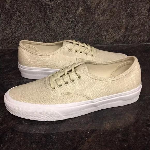 Vans Hemp Linen Authentic Turtledove Shoes 6618a7d728
